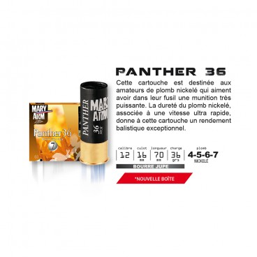 CARTOUCHES MARY ARM PANTHER 36 NICKELE