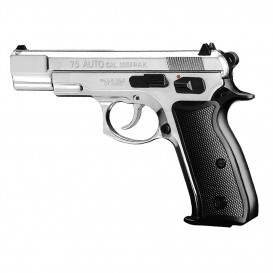 PISTOLET CZ75 CHROME 9MM BLANC