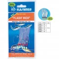 BAS DE LIGNE FLASH  INOX 5 HAMECONS